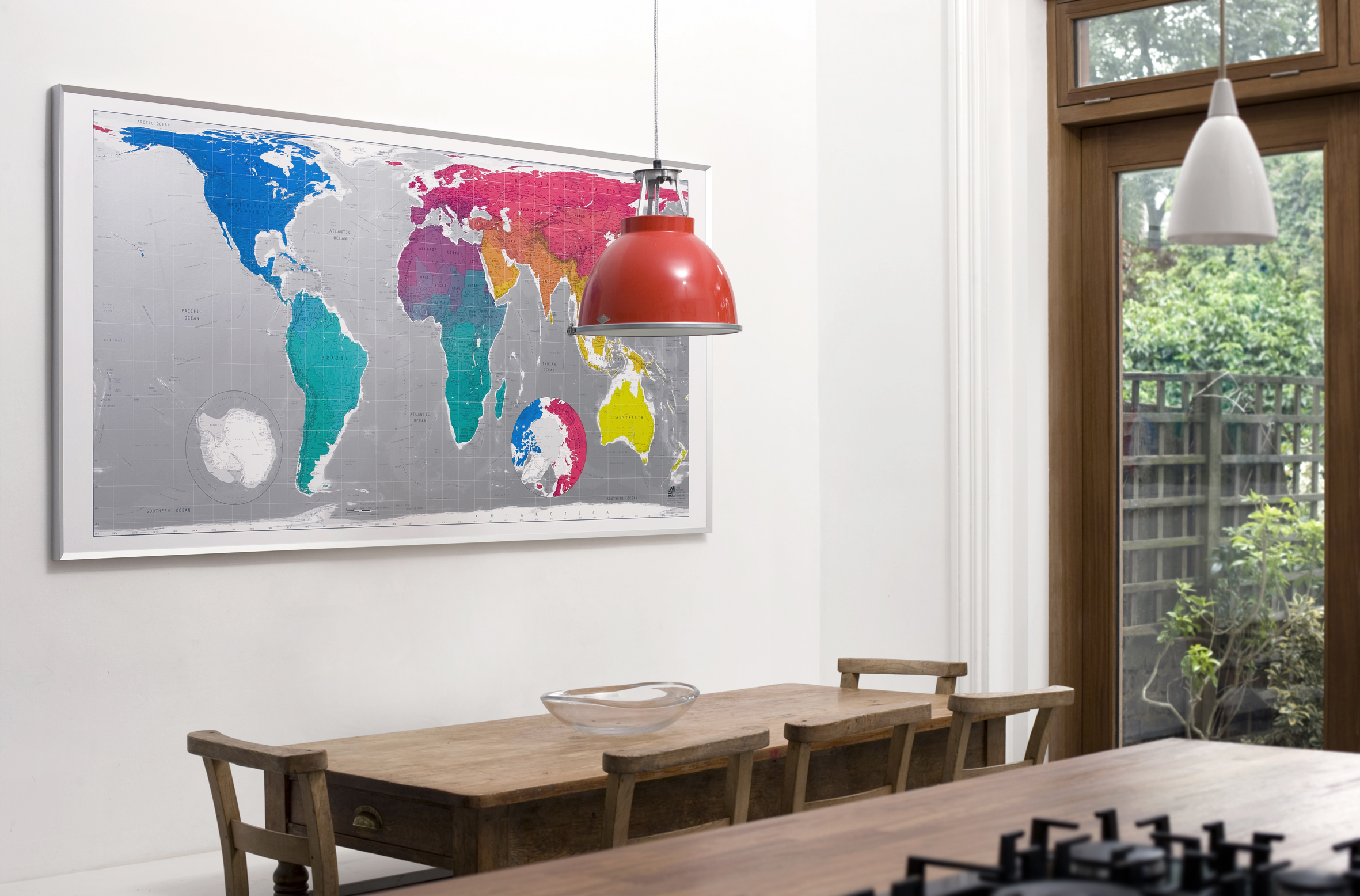 worldmap_framed_kitchen