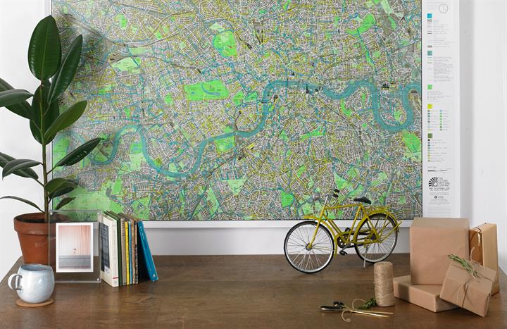 London Wall Map Gift