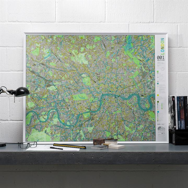Framed maps the future mapping company londoncitywallmapv1lifestyle gumiabroncs Images