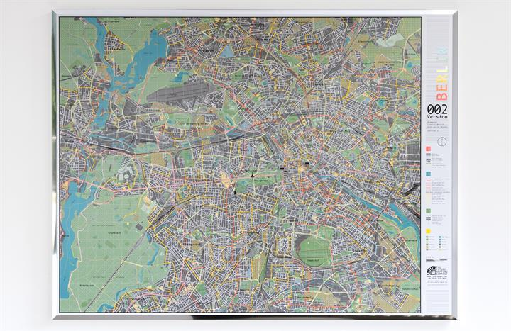 Berlin City Wall Map 1 | The Future Mapping Company