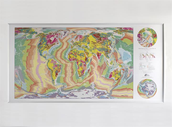 Large World Geological Wall Map | The Future Mapping Company