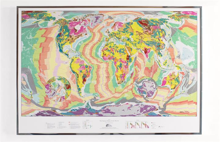 The future mapping company exdisplaysmallgeologyfsilver framed dimensions 1000 x 700mm gumiabroncs Images