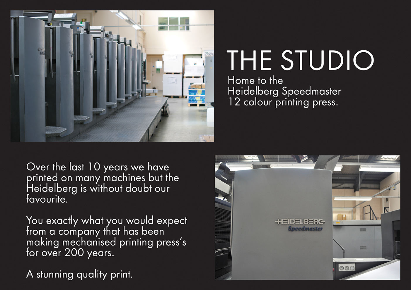 Heidelberg Speedmaster 12 colour printing press