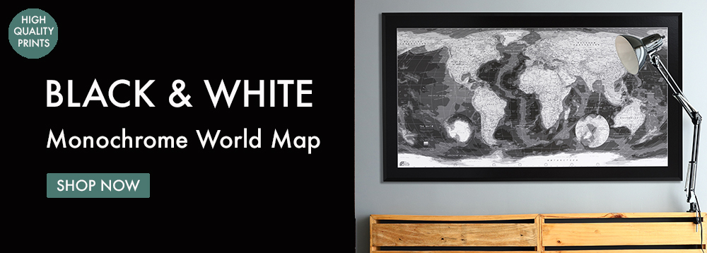 Monochrome World Map