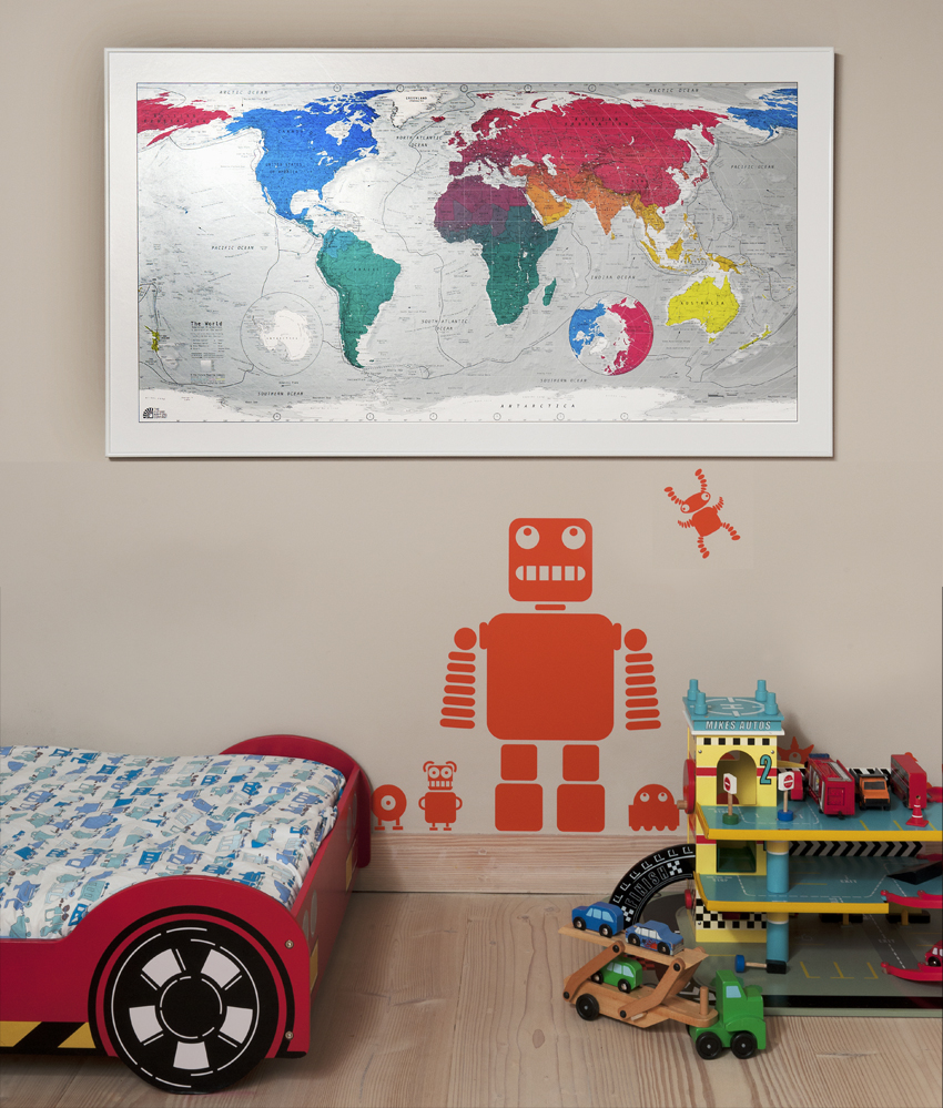 classic world map robot