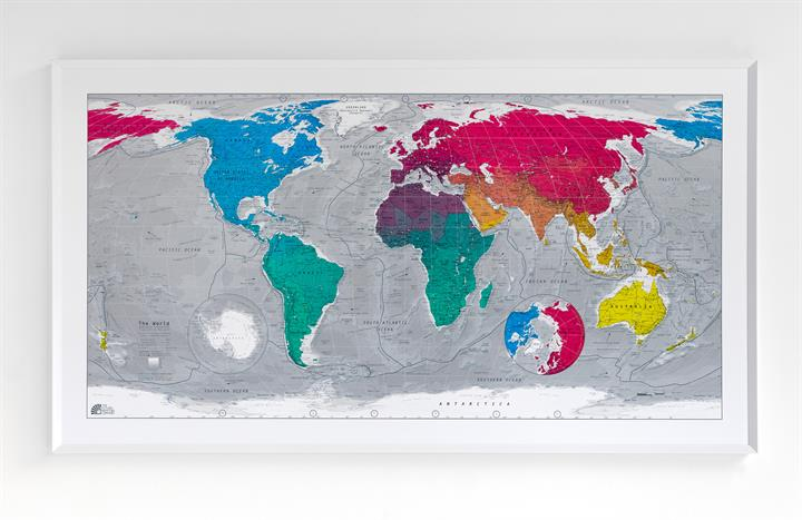 Future Mapping Company Classic World Wall Map 3 | The Future Mapping Company