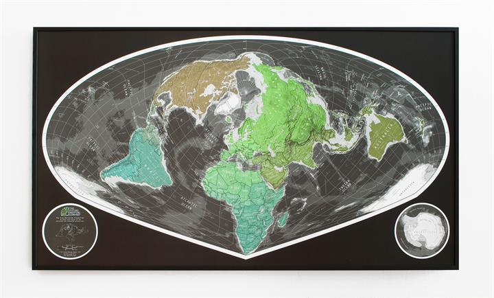 framed_world_wall_map