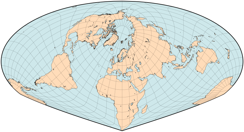 sinu-mollweide projection