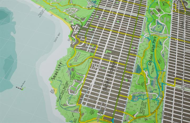 san_francisco_city_wall_map_V1_CU5
